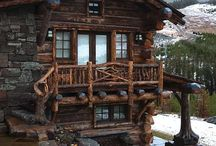 CABIN LUV / I love cabins...so cozy..they have all of my favorite design elements:  fireplaces, distressed furniture, primitive crafts..the only thing missing is ME! / by Desiree Aaron