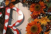 fall wreath / by Randee Hallmark