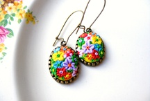 Polymer Clay Jewlery and Adornments / Polymer clay beads, adornments and jewelry   / by Carita Allen