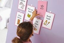Chore/routine chart ideas / by Leah Hollifield