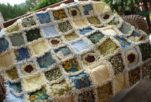 Large Quilts / Handmade Lap Throw Quilts sold in my etsy shop Sunflower Rag Works / by Jerri Jarvis