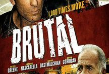 """1,000 Time More Brutal (Movie) / (Short Synopsis) """"Four long-time pals tangle with a low-level gangster. Now, if they can't hustle their way out, they'll pay the ultimate price ... but the streets of Brooklyn are more Brutal than they imagined."""" (Starring) Arthur Nascarella (Enemy of the State), Bianca Hunter (The Fighter), David Dastmalchian (The DarkKnight), Peter Greene (Pulp Fiction), and Kevin Corrigan (Pineapple Express). / by Green Apple Entertainment"""