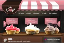 Pastry: web design inspirations / Showcase of pastry web sites / by Giovanna Mastrocola