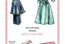 Paper Dolls / Check board for more paper dolls. / by Sandy Richardson