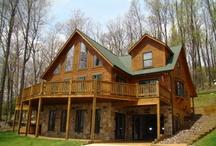 Log Homes / by Heather Ramirez