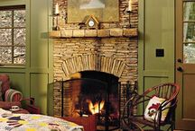 Cozy fireplaces / by Ashley Sweatte
