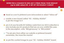 EC: Holiday Wishlist  / by Nicole Mattes