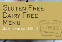 Gluten Free Dairy Free September 2014 Freezer Menu / by Once A Month Meals