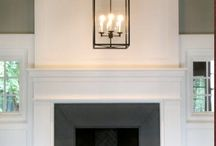 fireplaces + mantels / by Brooke Chamblee
