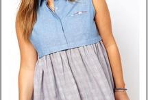 """Mode jeune fille ronde / Aujourd'hui certaines adolescentes sont à la recherche de collection tendance grande taille, la """"boutique grande taille"""" va rechercher pour toutes les jeunes filles en surpoids, des vêtements à la mode adaptés à leurs ages. / by Mode Grande taille"""