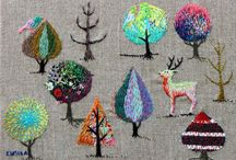 EMBROIDERY / Embroidery, Tapestry, Adornments, Cross Stitch, Embellishment. Anything created with Stitches... / by abigail*ryan