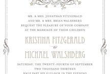 Wedding stationary ideas / by Taryn Page