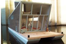 """HouseBoat Project - The """"Ark"""" / I want to remodel a houseboat to have a place to take my dog and write.  / by Deborah Dolen"""