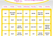 Brazil Butt Lift Workout Schedules / by Brazil Butt Lift