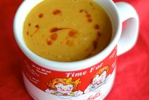 Food~!!! / Curried, Carrot, Pepper, Lentil, Coconut Soup / by Diana Peterson