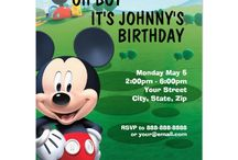 Mickey Mouse Party Invitations / Cute and Adorable Mickey Mouse Party Invitations, / by Nicole Grant