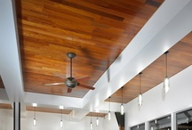 Reclaimed Wood Ceiling / Ideas for ways to use reclaimed wood, namely barn wood, can be utilized for ceilings in your home or commercial office spaces.  / by Reclaimed Wood, Inc.
