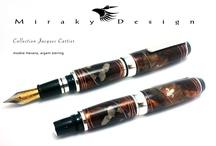 Unique Collections pens / Stylos et plumes , fait à la main à Montréal Hand made fountain & ball point pens / by Miraky Design