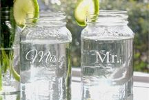 We Love Mason Jars / Invoking a classic sense of tradition, Mason Jars are a versatile and economical way to create a centerpiece for a table. They are also called ball Jars, or fruit jars because they are often used to store fruit. You can fill Personalized Mason Jar Vases with souvenirs from vacations, weddings, anniversary parties or other special events.  / by Classic Hostess