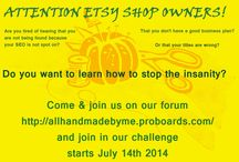 Etsy workshops / workshops run by etsy shop owners for etsy shop owners  join our forum http://allhandmadebyme.proboards.com/  Workshop related pins only please :) / by Rhi Louise