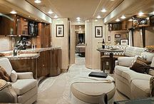 Extravagant RV interiors / Lifestyles of the Rich & Famous come alive!  Today's RV's aren't just trailers anymore; they are motorized luxury mini mansions.  Some with gourmet, state-of-art kitchens, marble floors and king size beds.  RV's have come a long way babe! / by rentzio
