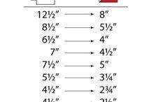 Helpful Measurement Charts / by AtlantaModQuiltGuild