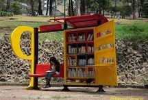 Outdoor Bookshelves / by Bookshelf Porn