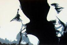 DUNAS ARTS / Pintura de retratos a preto, branco e cinzas em telas. / by Maria Leitão