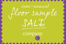 Semi-Annual Sample Sale / Get 'em while you can! These sample sale items are available exclusively at one of our three retail locations - Hingham, MA, Concord, NH and Portland, ME - for a limited time only, while supplies last. / by Company C