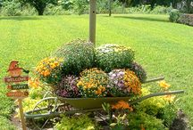 Fall flower yard decorations / by Diana Jones