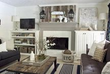 Living Room Inspiration / Inspiration for my living and family room.  Home decor ideas for a living or family room.  / by Angie Countrychiccottage