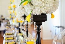 Yellow & Black Wedding Inspiration / by Madeline's Weddings & Events