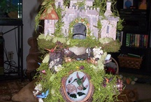 Fairy Gardens / Fairy Garden Castle, that stays in the kitchen. / by Peggy Wyscaver Novak