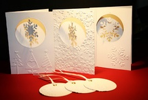 Christmas Snowflake cards. / by Kathy Baird