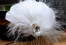 A White And Black Theme Wedding / Wanna a perfect black and white wedding? You may get some ideas from these beautiful feather accessories, they are special for you. All handmade with care and love. Available on KissPat feather store:http://hifeather.com/ / by KissPat Feather