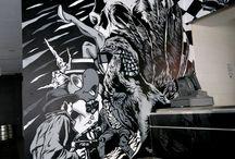 Graffiti/Wall INSP. / Graffiti / Wall / Mural Inspirations. / by Cat De Ville