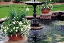 garden pools and fountains / by Kristen Ayers