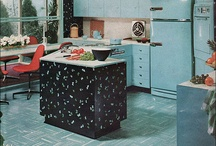 Mid century kitchen / Everything kitchen (my beloved space) ranging from the 20's up through the 70's. My board for conjuring up the ultimate mid century kitchen. / by Rohn Sambol