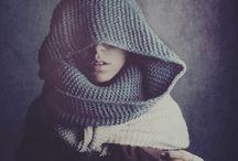 {scarf & beanie} / Synonyms scarf: ascot, bandanna, boa, kerchief, neckwear, shawl, stole, wrapping Synonyms beanie: beret, bonnet, dink, fez, pillbox, skullcap, tam, tam o'shanter  / by Nina van Brakel