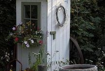 Garden Sheds, Benches & Green Houses / by Jennifer Dudley