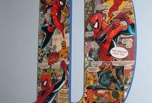AJ's Vintage Comic bedroom / by Julie D