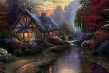 Thomas Kinkade / I love how he captured the light in the scenes he painted / by Risha