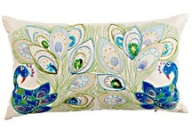 PEACOCK linens pillows / by Perfectly Peacocky