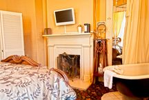 Original Rooms - Ye Kendall Inn / Take  a trip back in time when you stay in one of our four original rooms. The four original rooms of Ye Kendall Inn feature a free-standing clawfoot tub and toilet behind a privacy screen.  / by Ye Kendall Inn