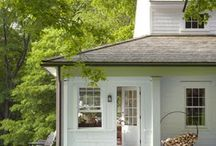 Cabin exterior ideas / by Holly Bouslough