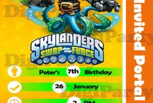Skylander Birthday Theme Items / by DigiParty