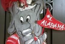 A-L-A-B-A-M-A / Alabama football Roll Tide crimson / by Lindsay Blackwell