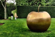 Garden Art Fruitcake / I love garden art and have a particular affinity for giant fruit. I have a 4 foot tall white Apple and would love to have more. Quirky?  Definitely. / by Ann Ayers