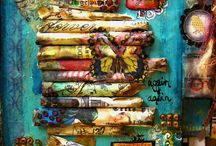 Mixed media and collage / Mixed media and collage art  / by pdb Design