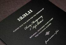 Black and White Wedding / by Christina D'Asaro Design, LLC